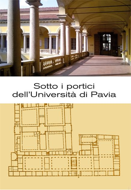 Sotto i portici dell'Università di Pavia